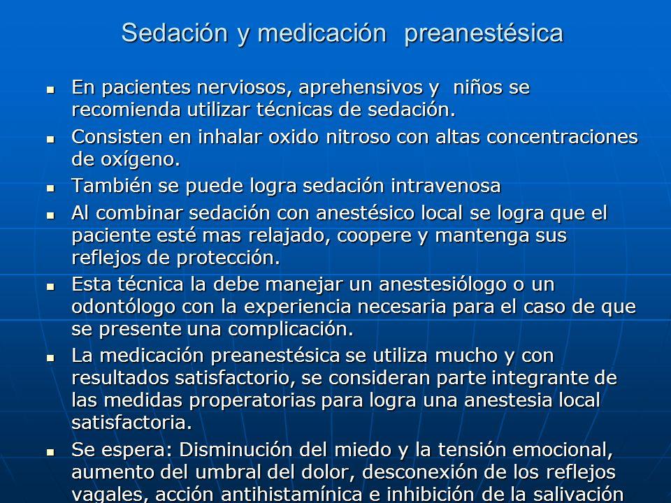 Sedación y medicación preanestésica