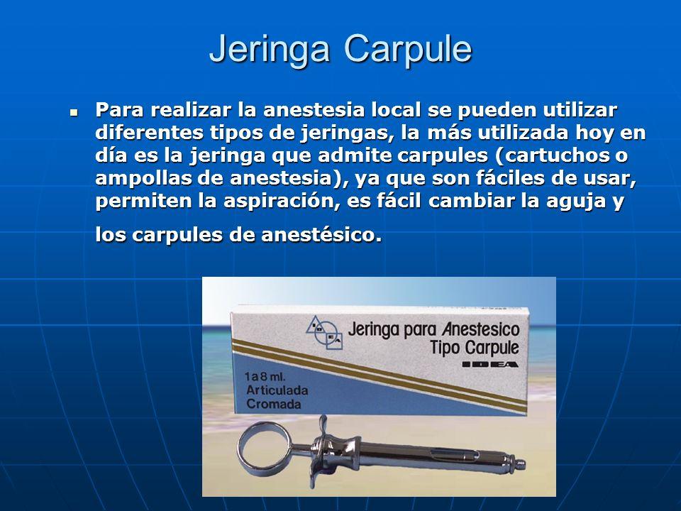Jeringa Carpule
