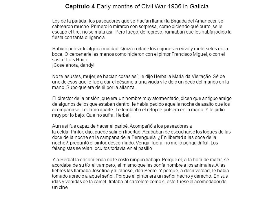 Capítulo 4 Early months of Civil War 1936 in Galicia