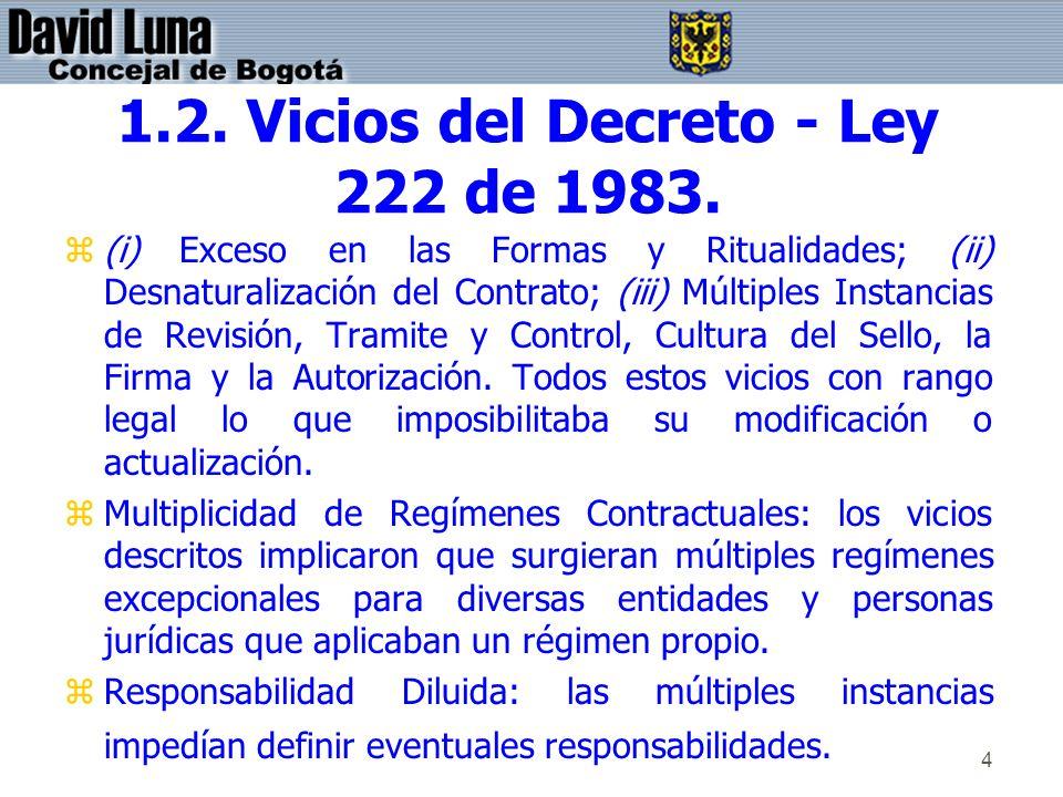 1.2. Vicios del Decreto - Ley 222 de 1983.