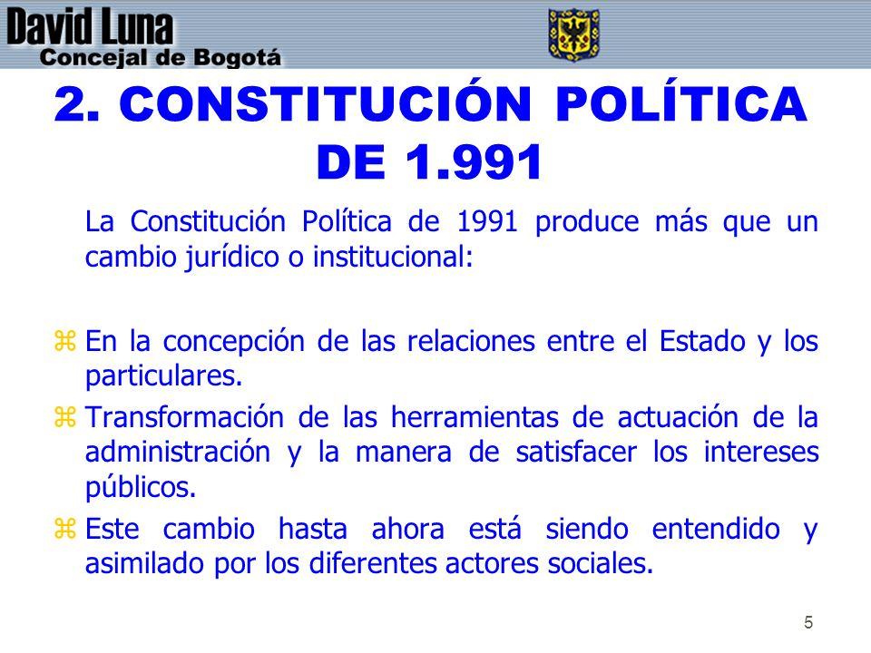 2. CONSTITUCIÓN POLÍTICA DE 1.991