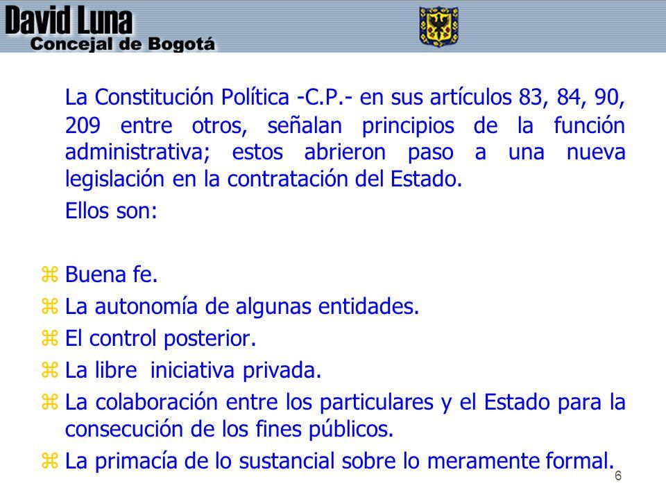 La Constitución Política -C. P