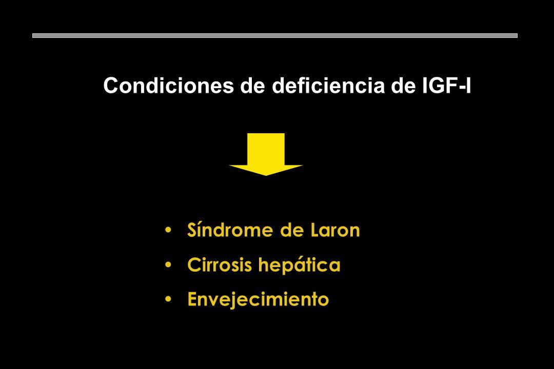 Condiciones de deficiencia de IGF-I