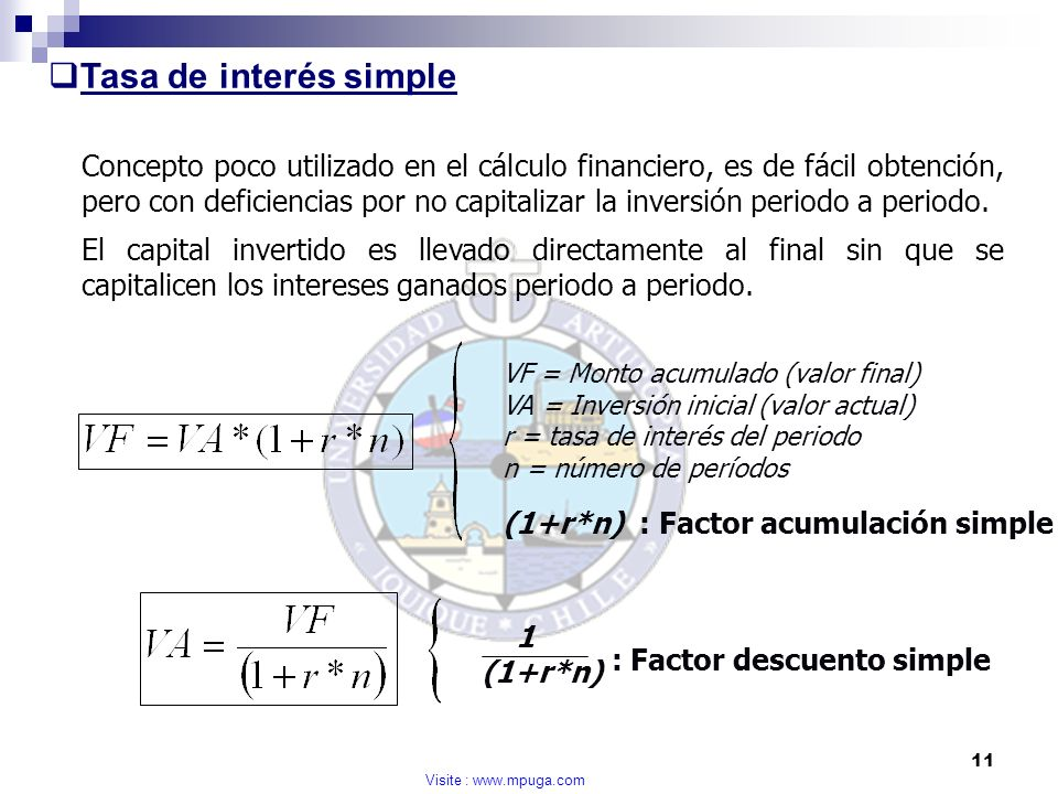 Tasa de interés simple