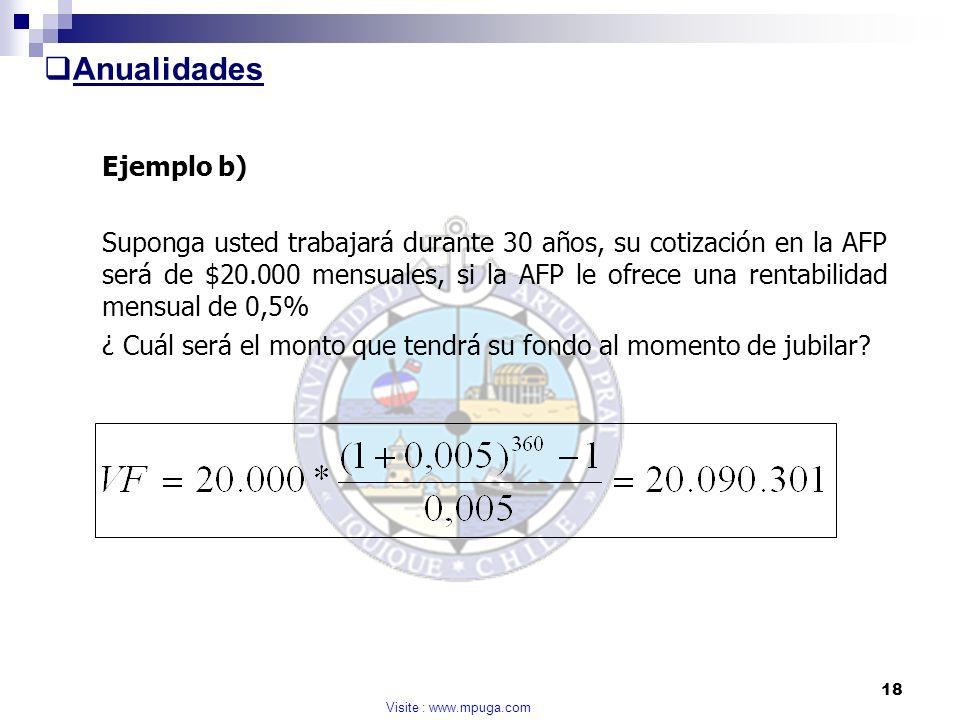 Anualidades Ejemplo b)