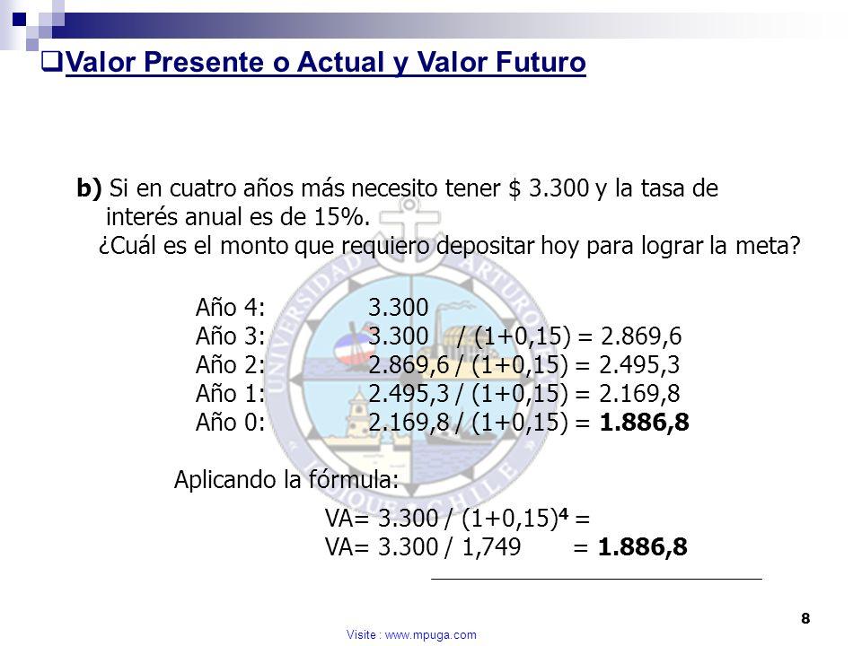 Valor Presente o Actual y Valor Futuro