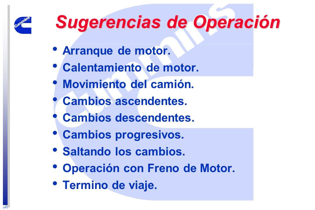 Sugerencias de Operación