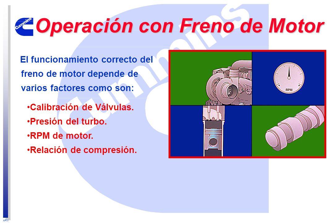 Operación con Freno de Motor