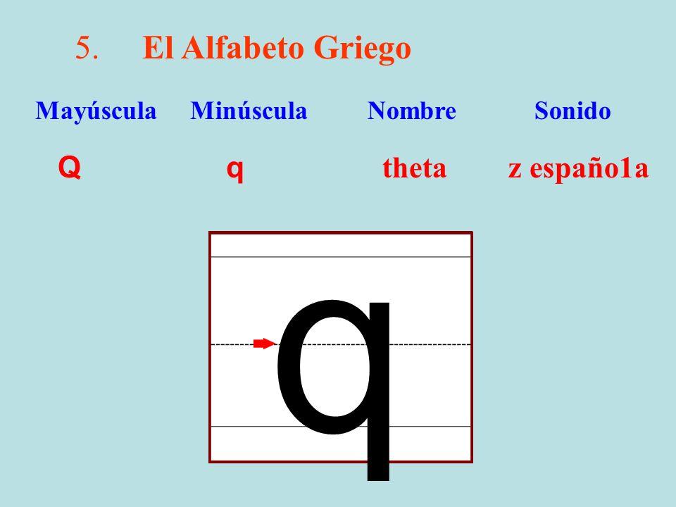q 5. El Alfabeto Griego Q q theta z españo1a