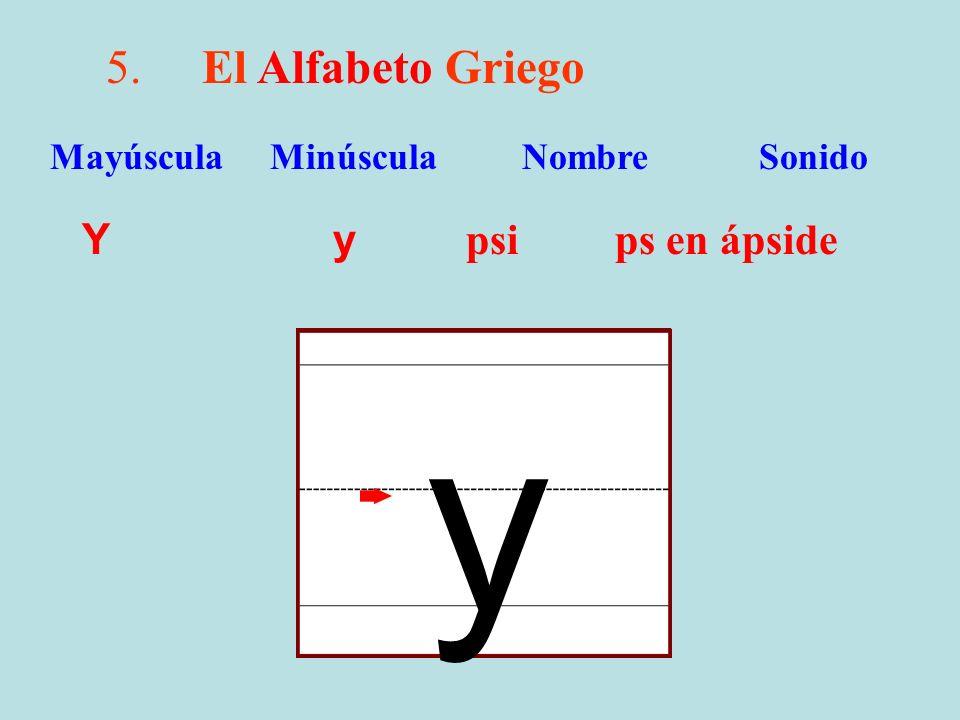 y 5. El Alfabeto Griego Y y psi ps en ápside