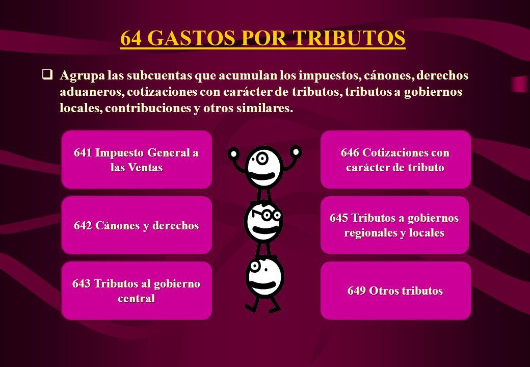 64 GASTOS POR TRIBUTOS