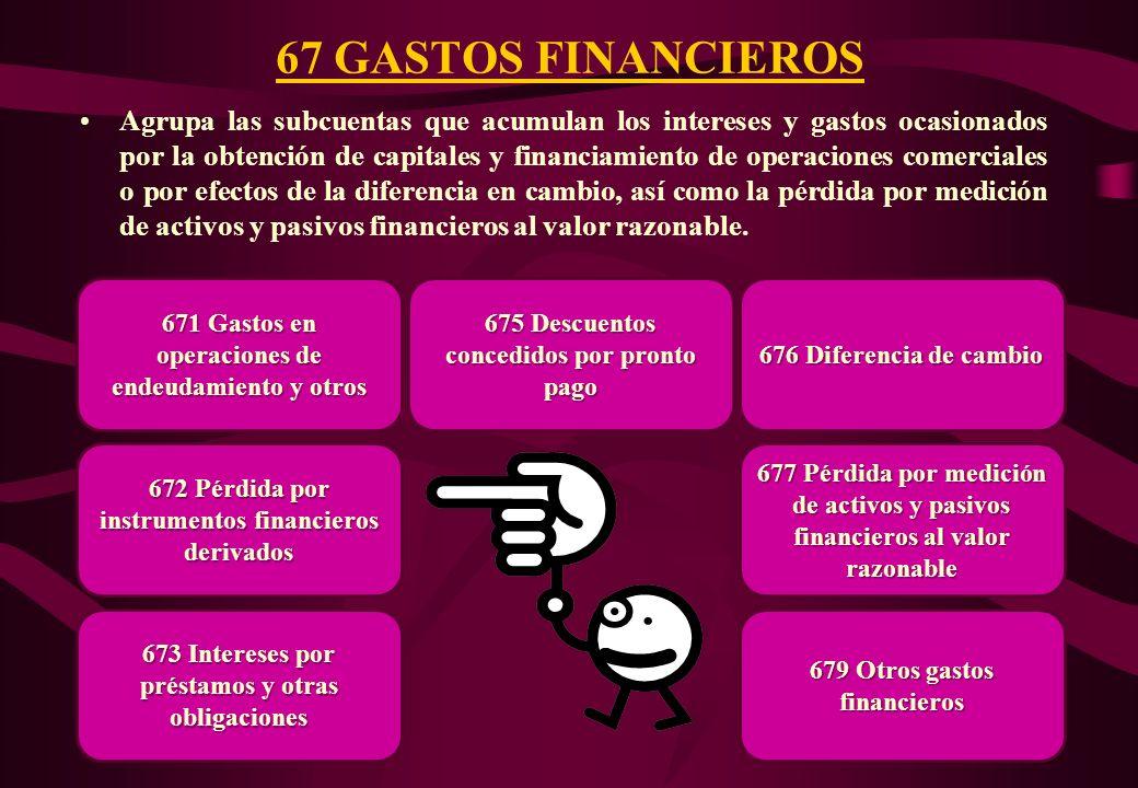 67 GASTOS FINANCIEROS