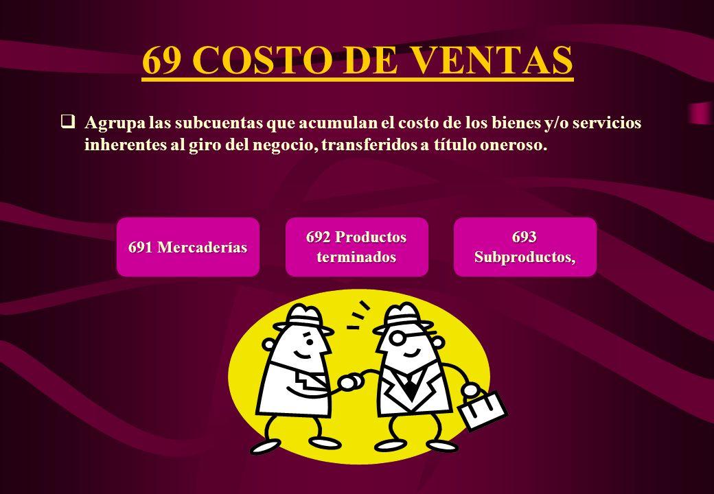 69 COSTO DE VENTAS