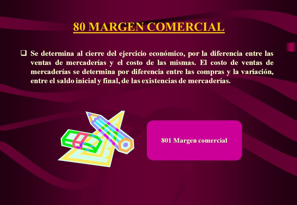 80 MARGEN COMERCIAL