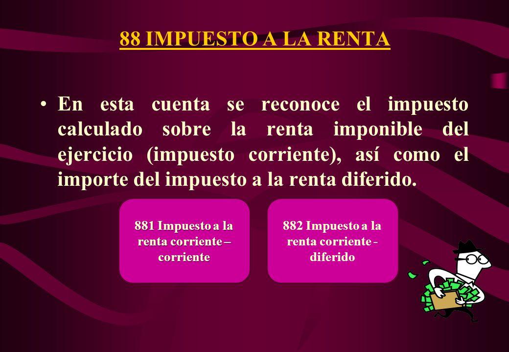 88 IMPUESTO A LA RENTA