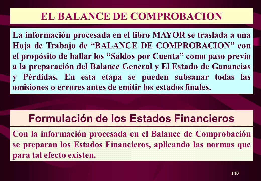 EL BALANCE DE COMPROBACION