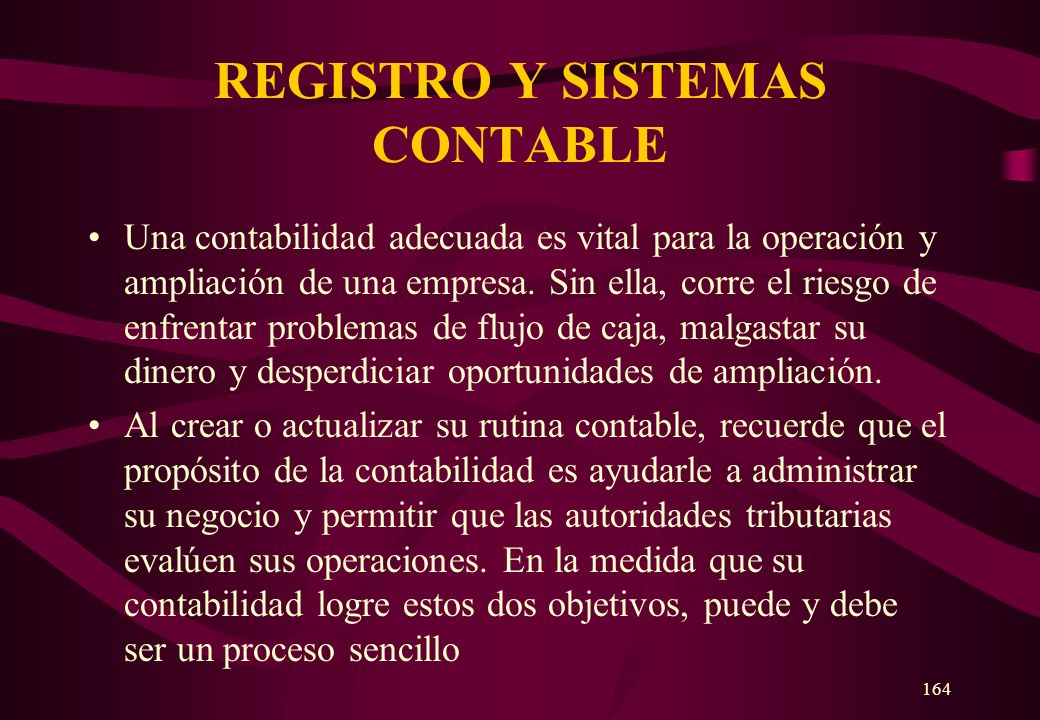 REGISTRO Y SISTEMAS CONTABLE