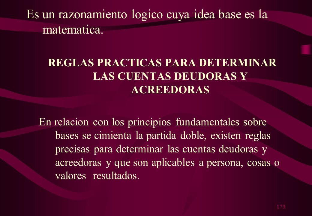 REGLAS PRACTICAS PARA DETERMINAR LAS CUENTAS DEUDORAS Y ACREEDORAS