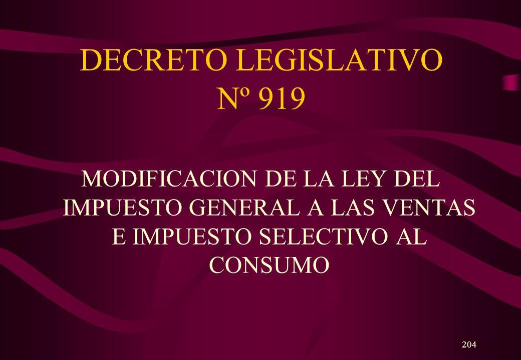 DECRETO LEGISLATIVO Nº 919