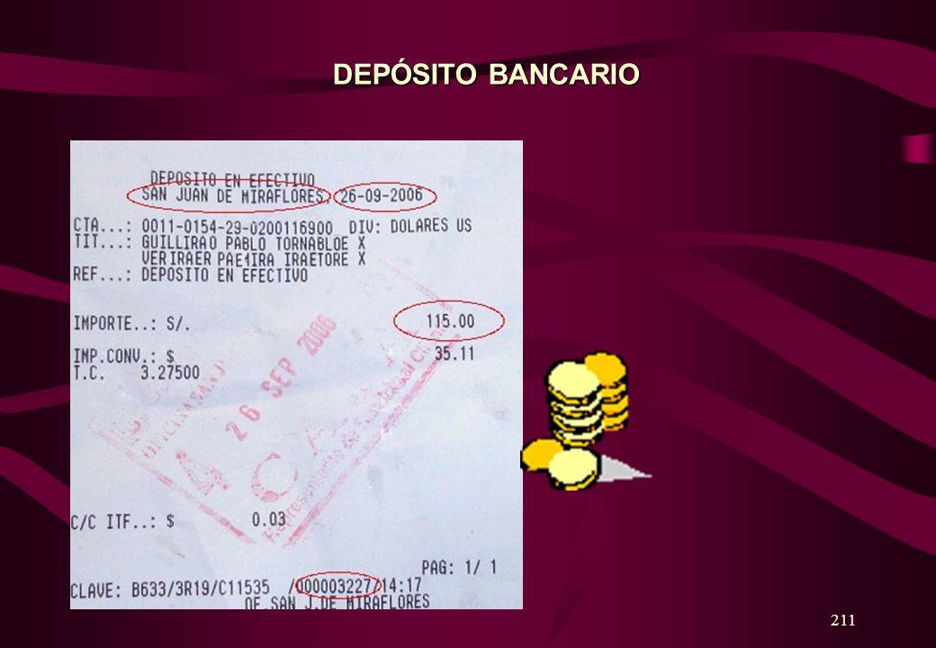 DEPÓSITO BANCARIO 211
