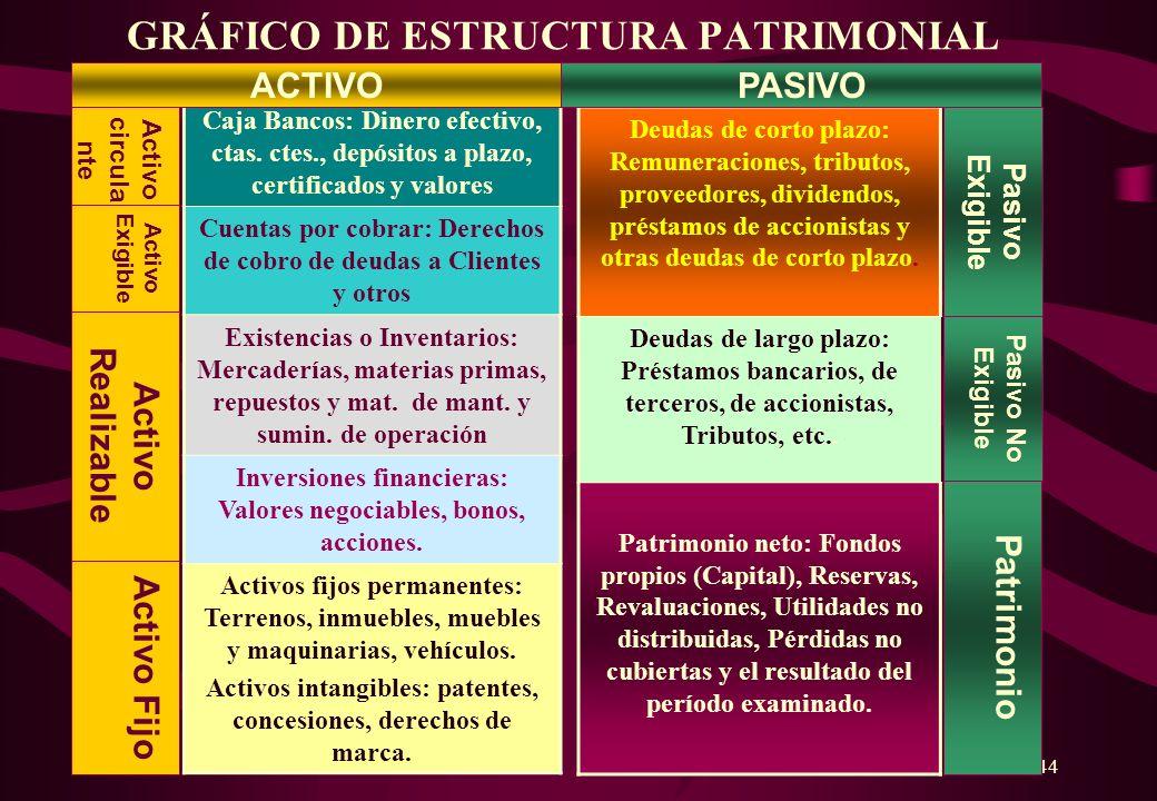 GRÁFICO DE ESTRUCTURA PATRIMONIAL
