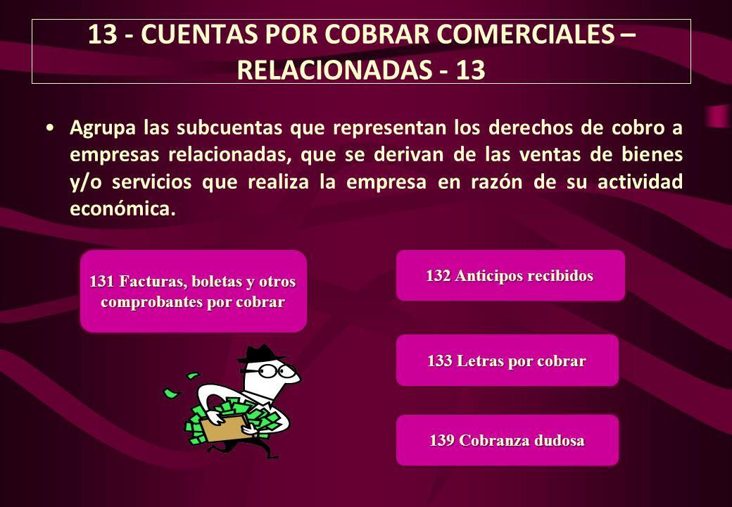 13 - CUENTAS POR COBRAR COMERCIALES – RELACIONADAS - 13
