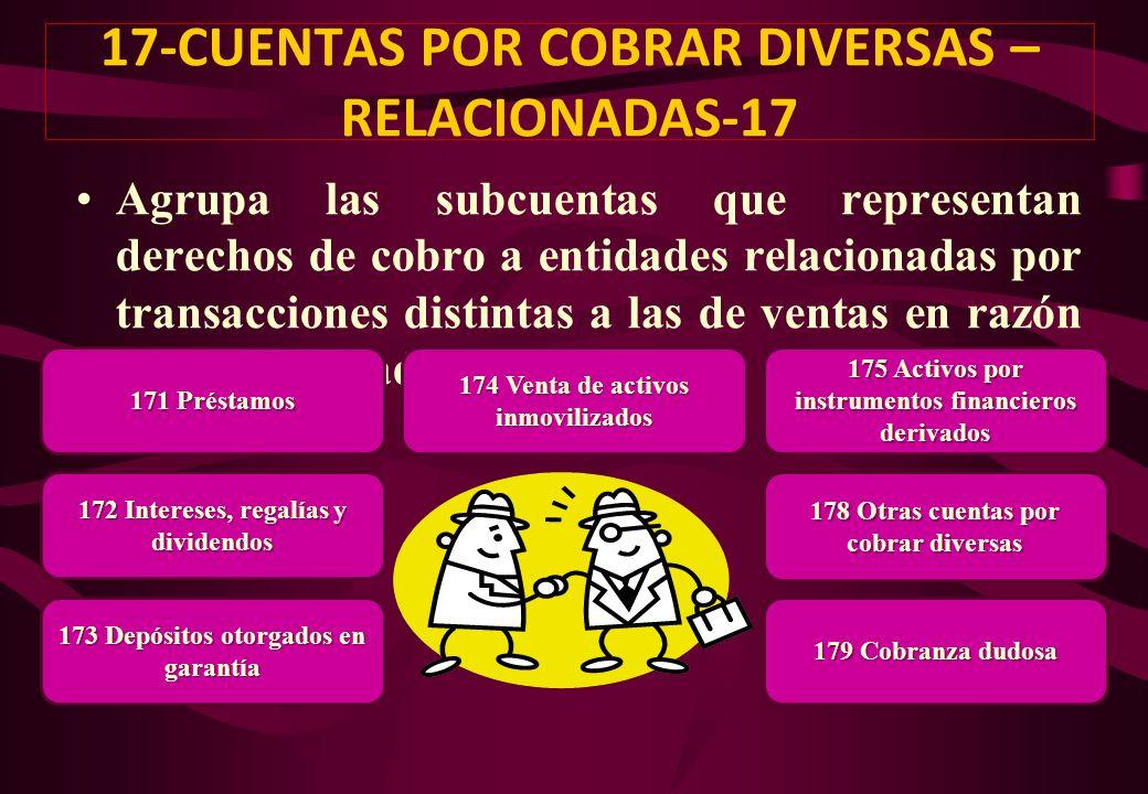 17-CUENTAS POR COBRAR DIVERSAS – RELACIONADAS-17
