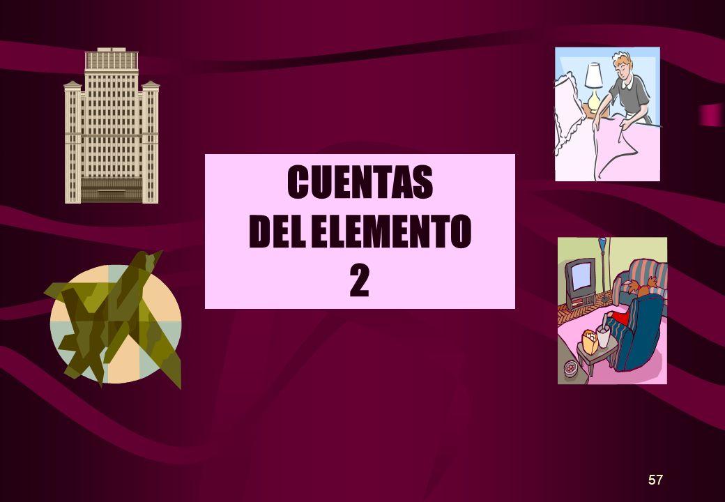 CUENTAS DEL ELEMENTO 2