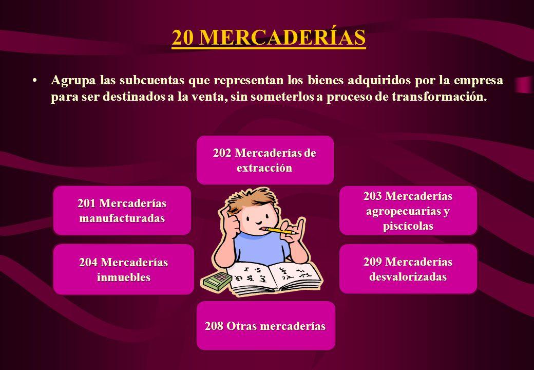 20 MERCADERÍAS