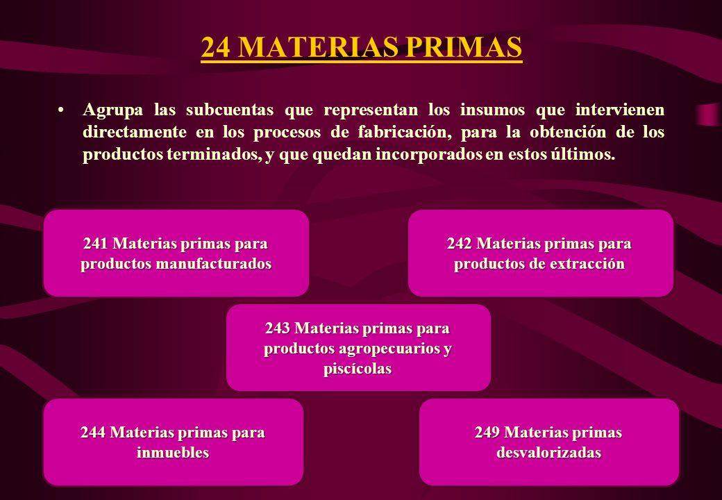 24 MATERIAS PRIMAS