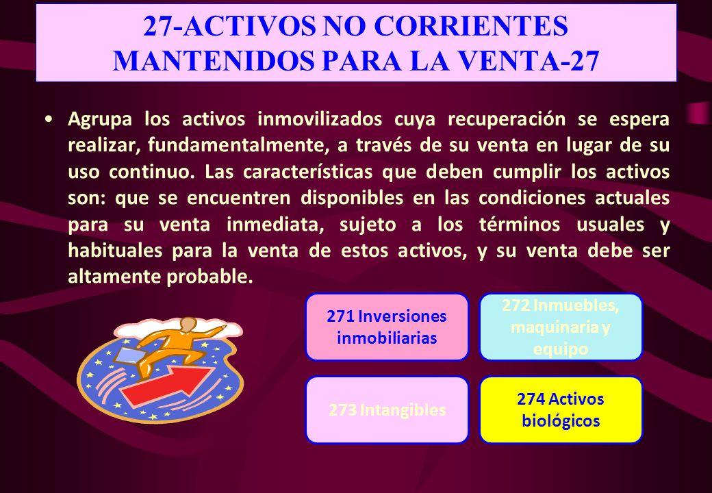 27-ACTIVOS NO CORRIENTES MANTENIDOS PARA LA VENTA-27