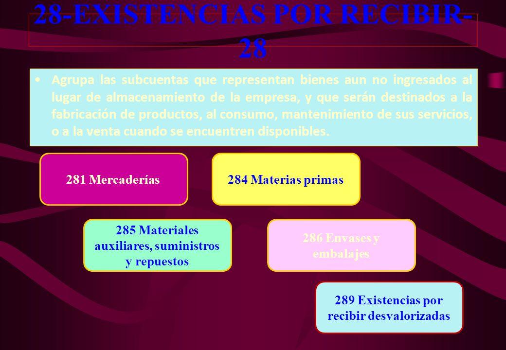 28-EXISTENCIAS POR RECIBIR-28