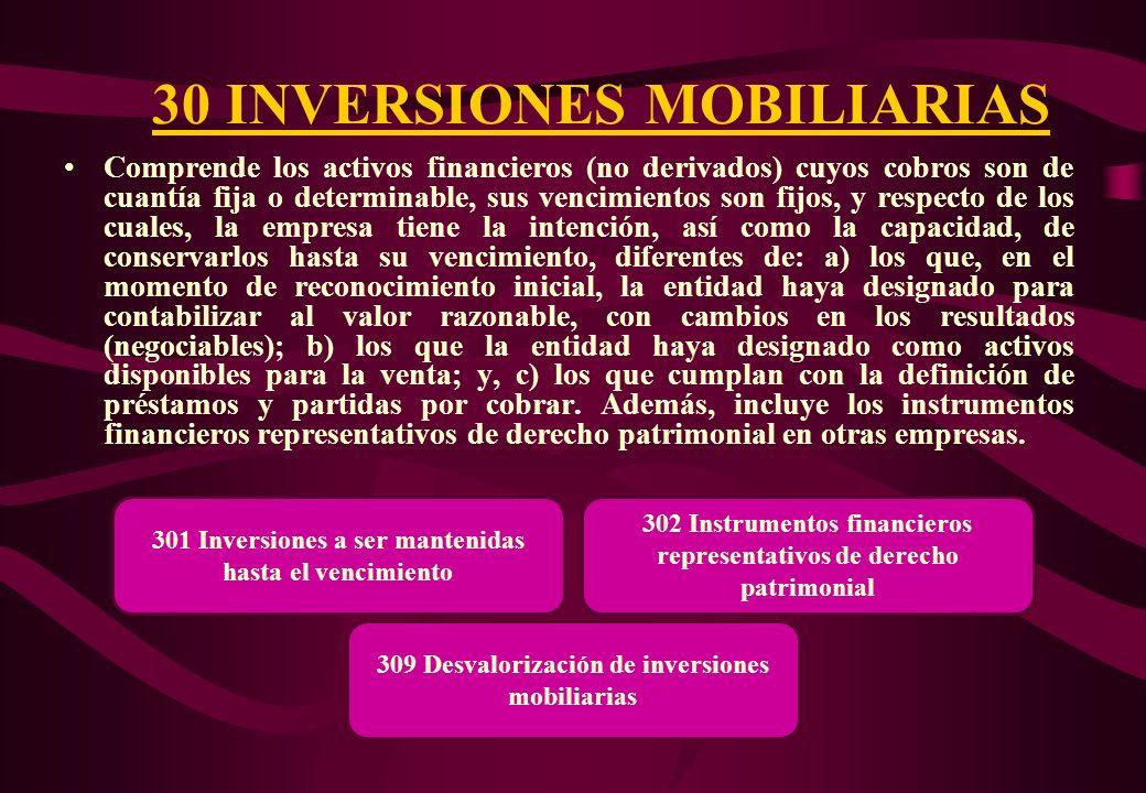 30 INVERSIONES MOBILIARIAS
