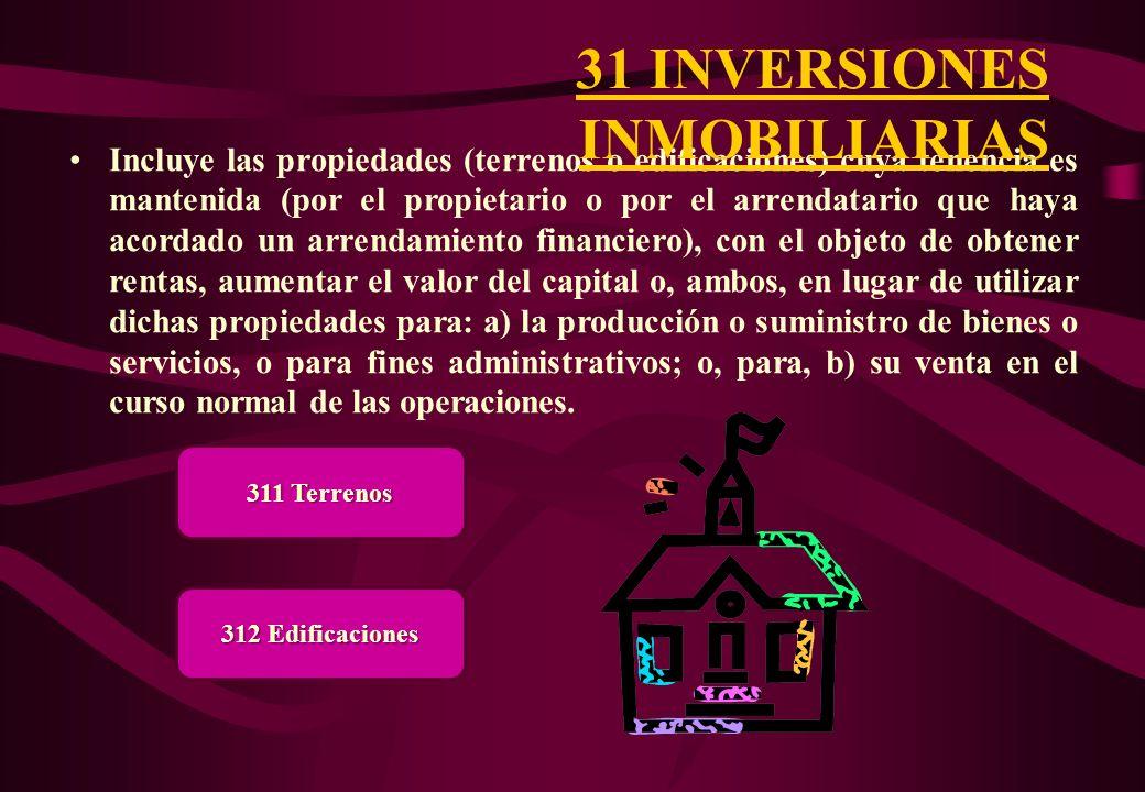 31 INVERSIONES INMOBILIARIAS