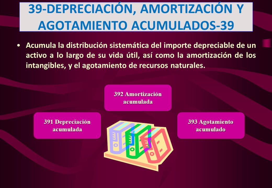 39-DEPRECIACIÓN, AMORTIZACIÓN Y AGOTAMIENTO ACUMULADOS-39