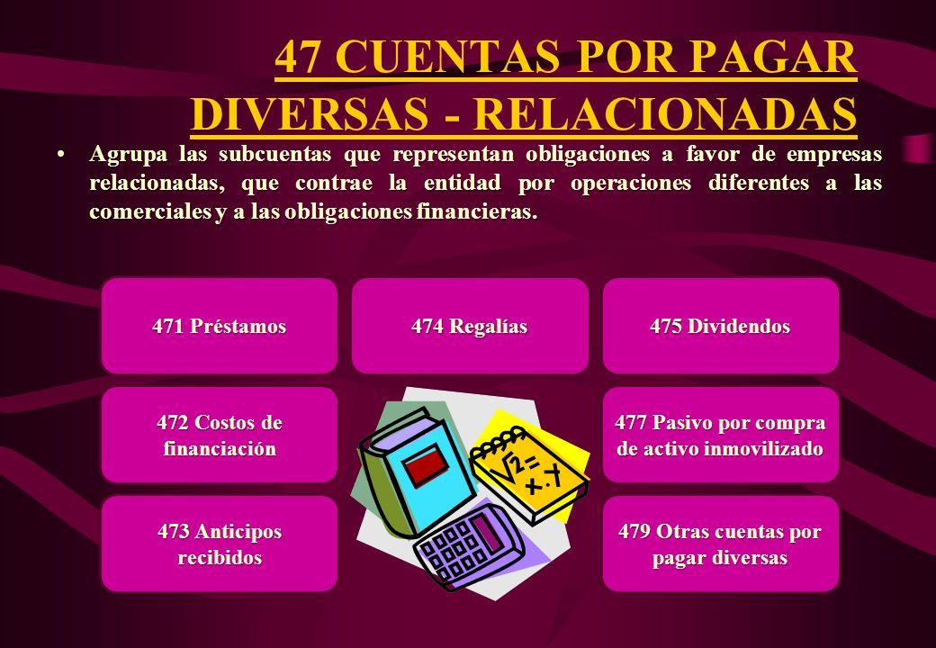 47 CUENTAS POR PAGAR DIVERSAS - RELACIONADAS