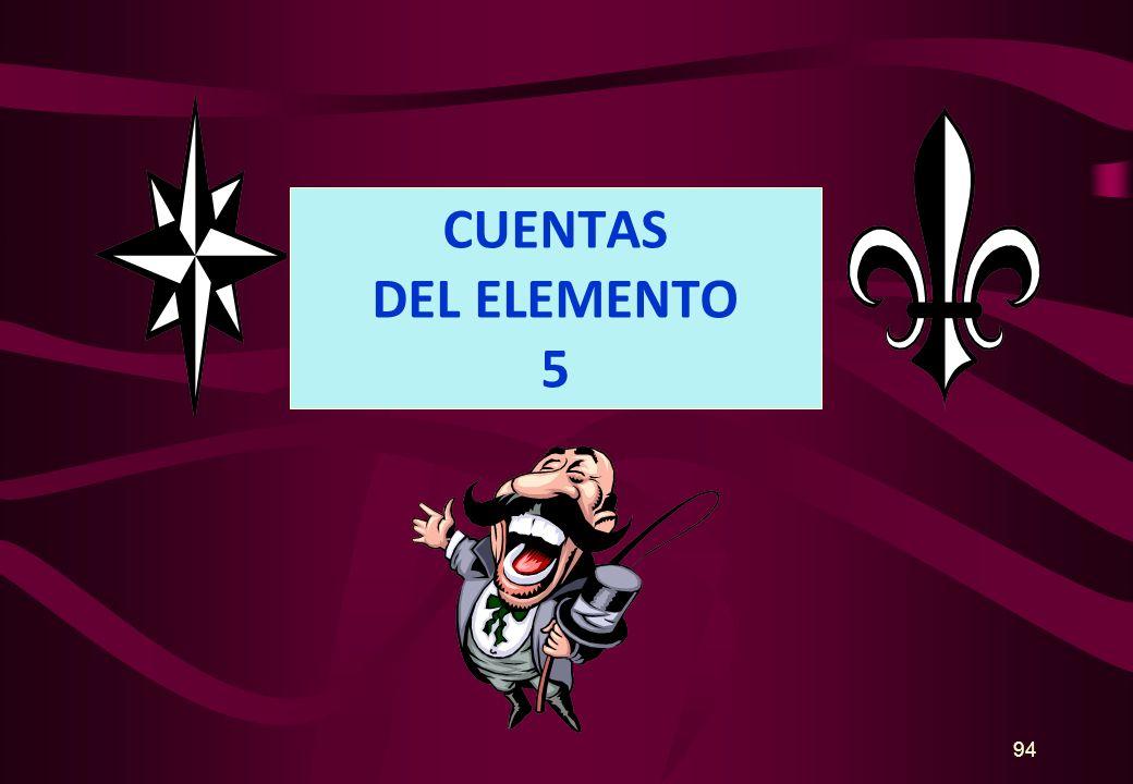 CUENTAS DEL ELEMENTO 5