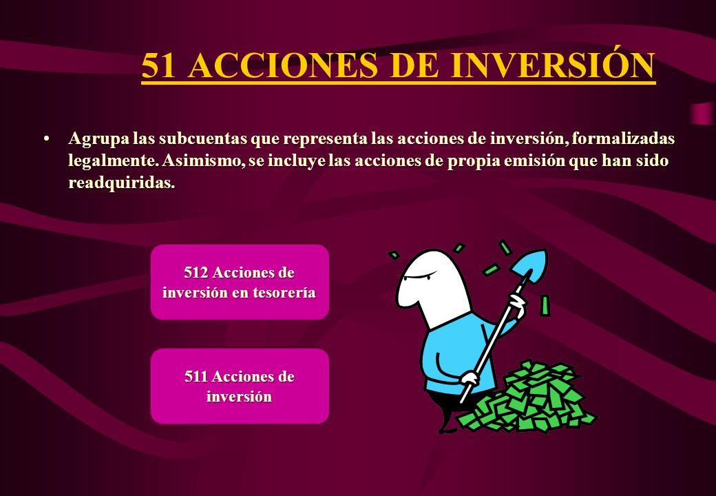 512 Acciones de inversión en tesorería