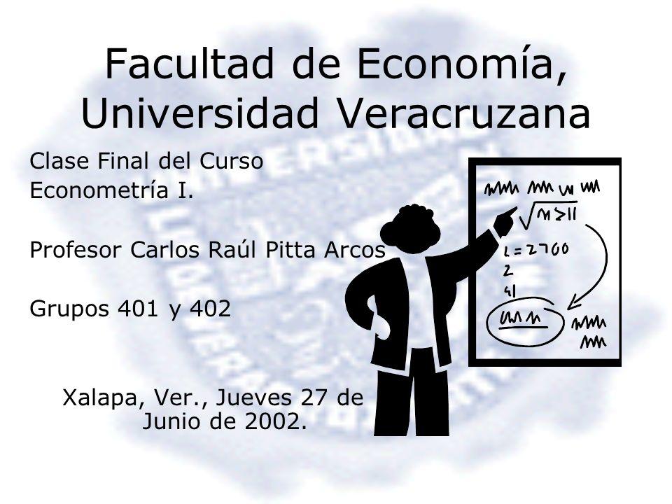 Facultad de Economía, Universidad Veracruzana
