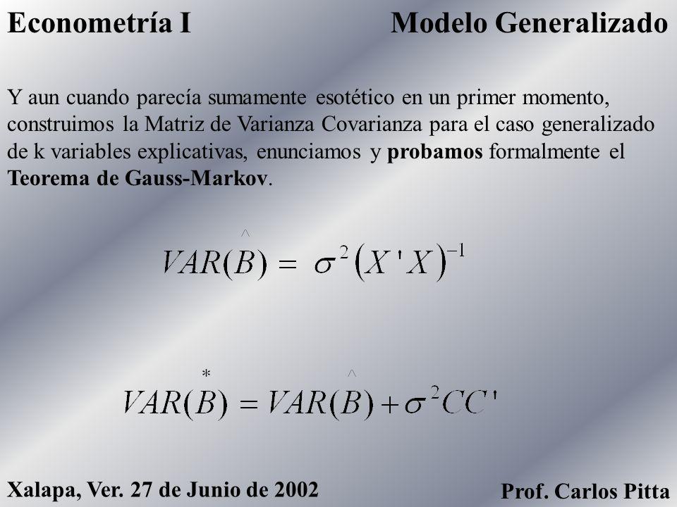 Econometría I Modelo Generalizado