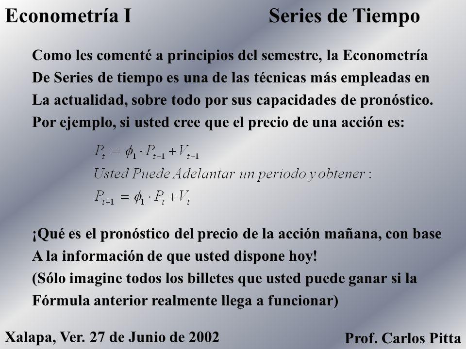 Econometría I Series de Tiempo