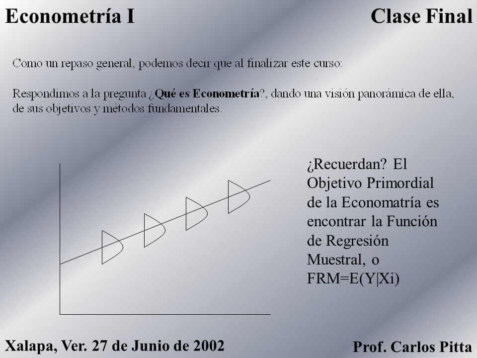 Econometría I Clase Final