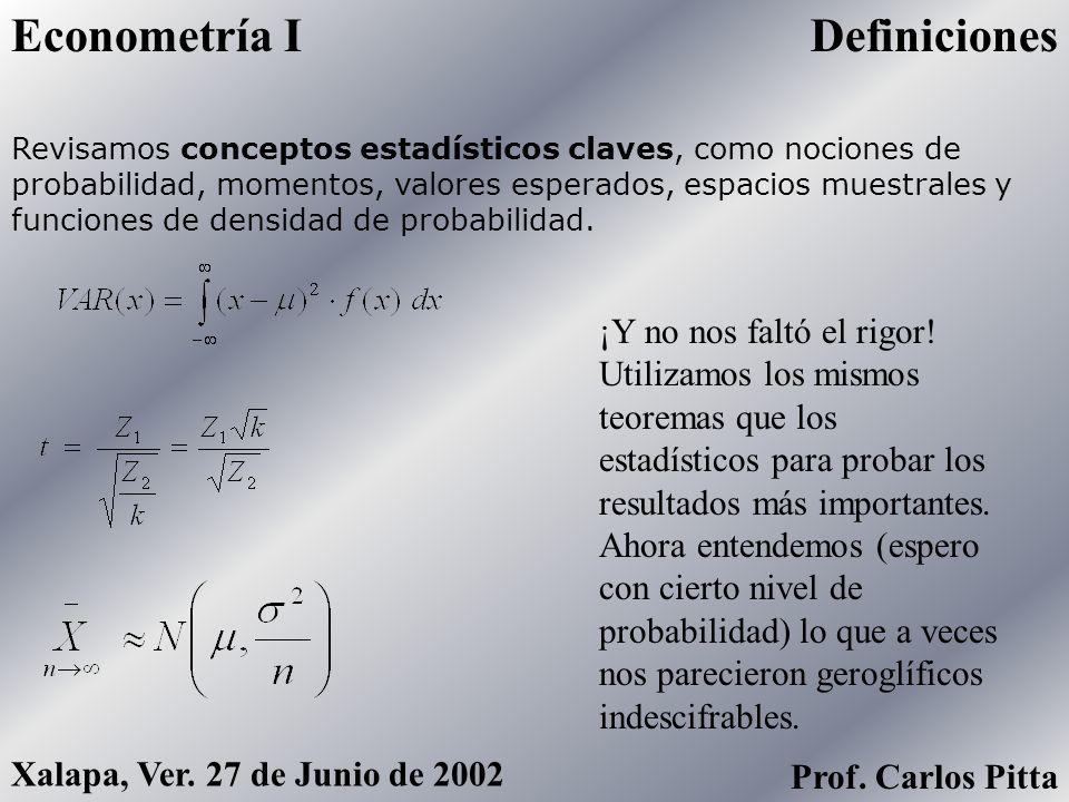 Econometría I Definiciones