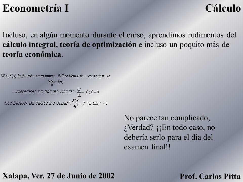 Econometría I Cálculo.