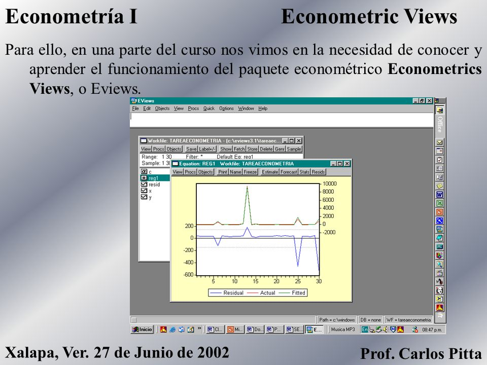 Econometría I Econometric Views