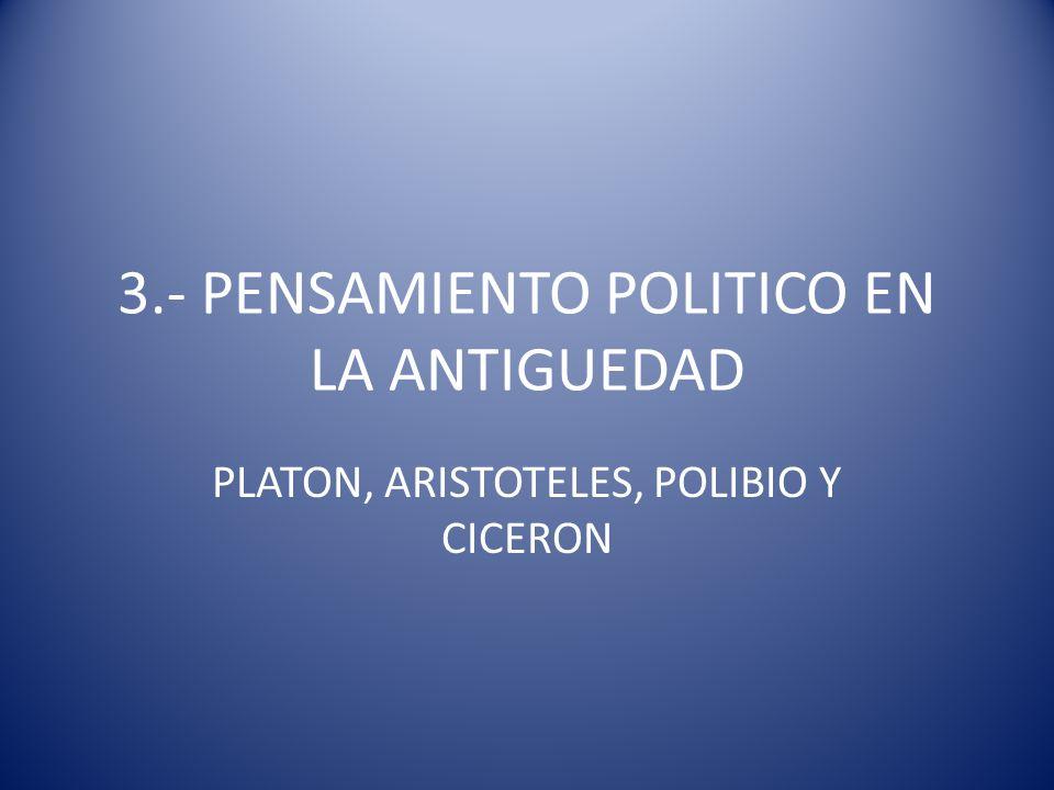3.- PENSAMIENTO POLITICO EN LA ANTIGUEDAD