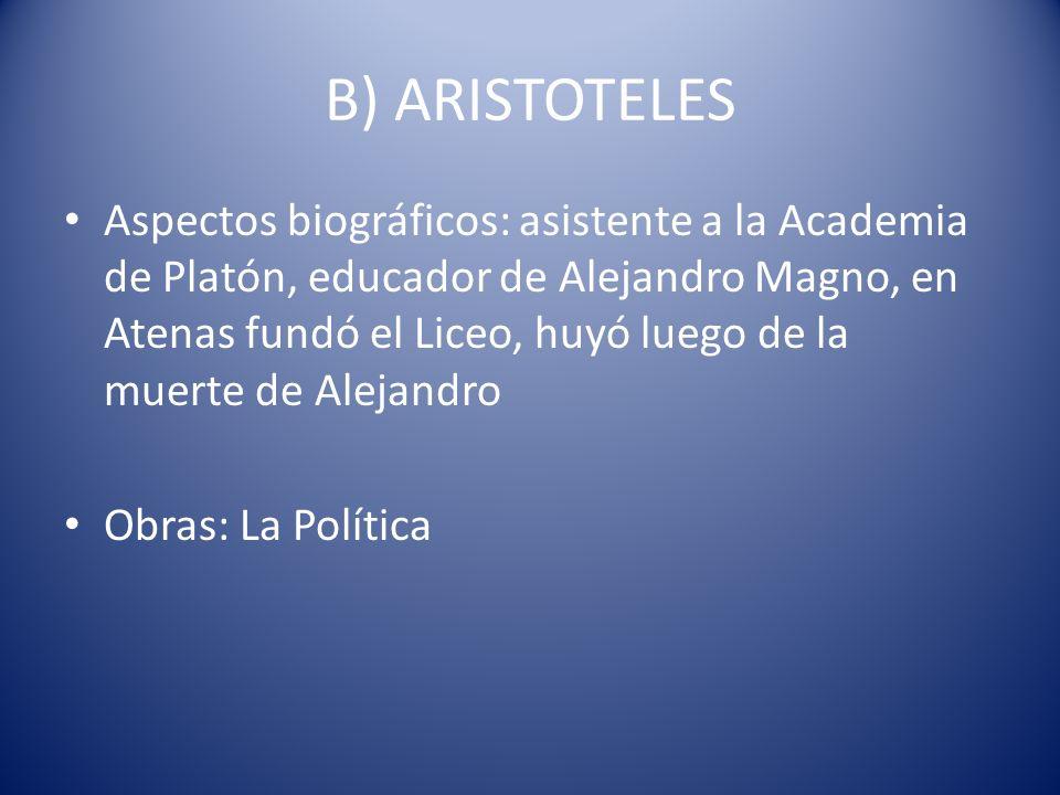 B) ARISTOTELES