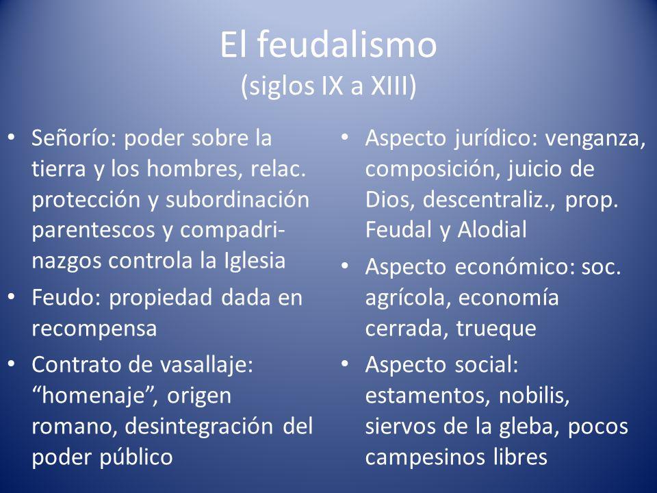El feudalismo (siglos IX a XIII)