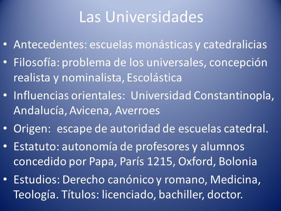 Las Universidades Antecedentes: escuelas monásticas y catedralicias