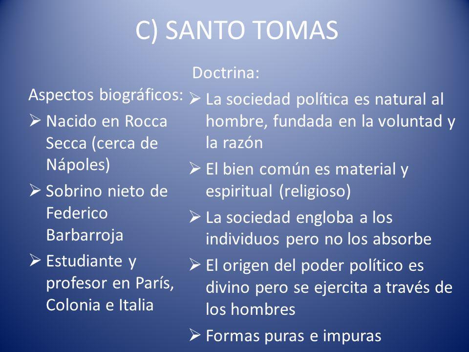 C) SANTO TOMAS Doctrina:
